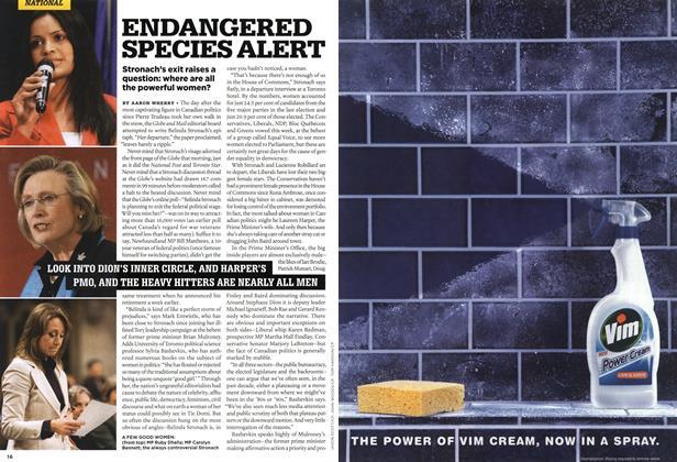 Article Preview: ENDANGERED SPECIES ALERT, APR. 30th 2007 2007 | Maclean's