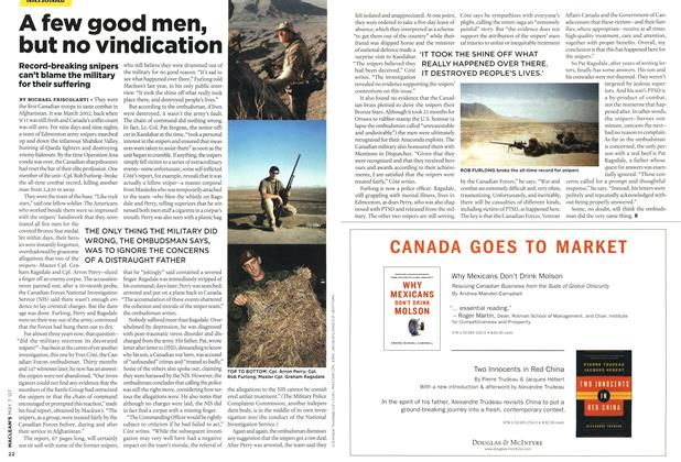 Article Preview: A few good men, but no vindication, MAY 7th 2007 2007 | Maclean's