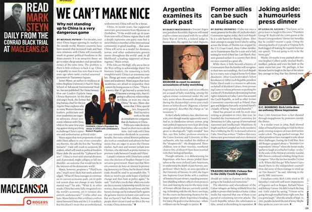 Article Preview: WE CAN'T MAKE NICE, MAY 7th 2007 2007 | Maclean's