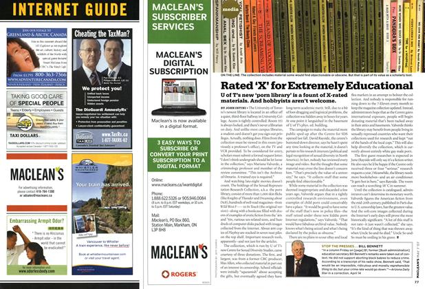 Article Preview: Rated 'X' for Extremely Educational, MAY 7th 2007 2007 | Maclean's