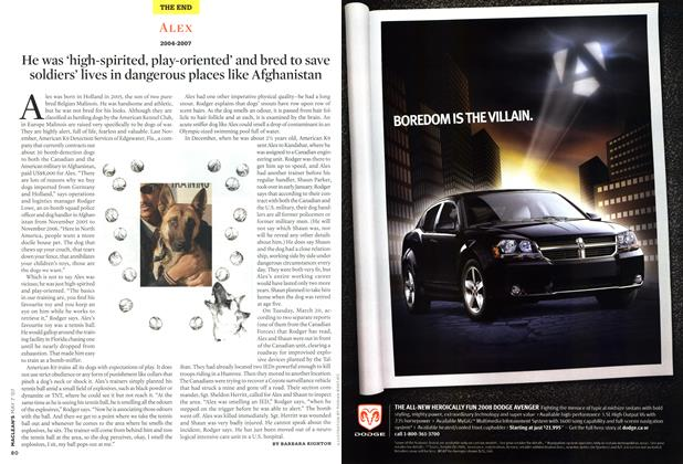 Article Preview: ALEX 2004-2007, MAY 7th 2007 2007   Maclean's
