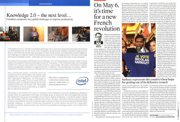 Article Preview: On May 6, it's time for a new French revolution, MAY 7th 2007 2007 | Maclean's