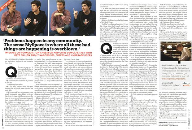 Article Preview: INTERVIEW, May 2007 | Maclean's