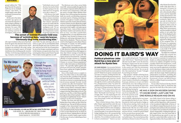 Article Preview: DOING IT BAIRD'S WAY, May 2007 | Maclean's
