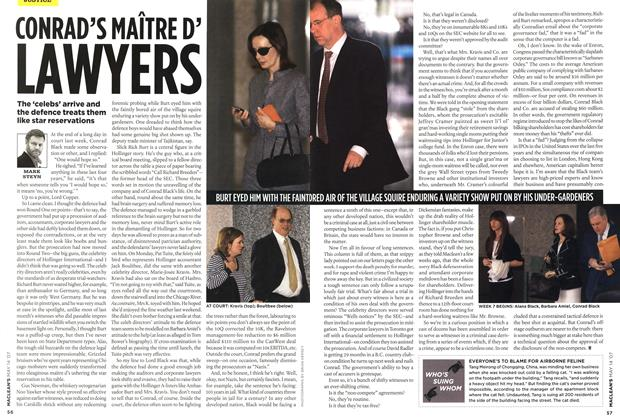 Article Preview: CONRAD'S MAITRE D' LAWYERS, May 2007 | Maclean's