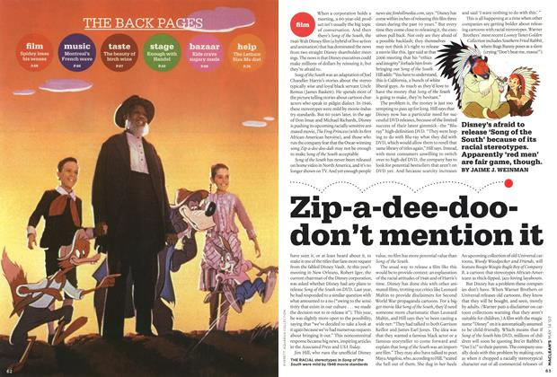Article Preview: Zip-a-dee-doodon't mention it, May 2007 | Maclean's