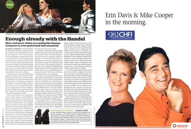 Article Preview: Enough already with the Handel, May 2007 | Maclean's