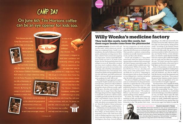 Article Preview: Willy Wonka's medicine factoxy, May 2007 | Maclean's