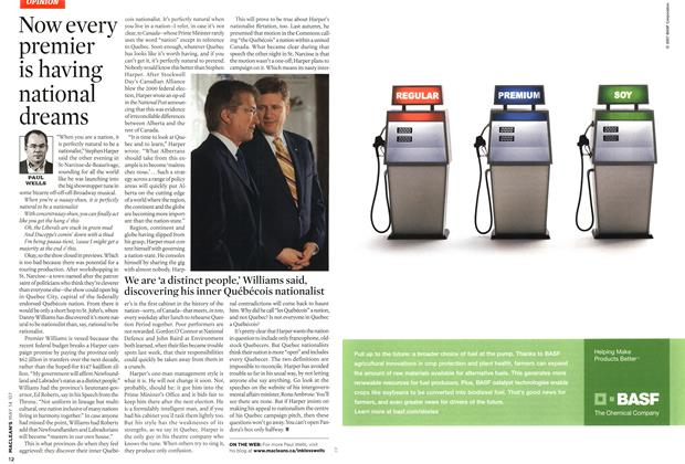 Article Preview: Now every premier is having national dreams, May 2007 | Maclean's