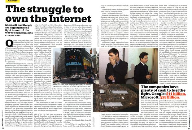 Article Preview: The struggle to own the Internet, MAY 21st 2007 2007 | Maclean's