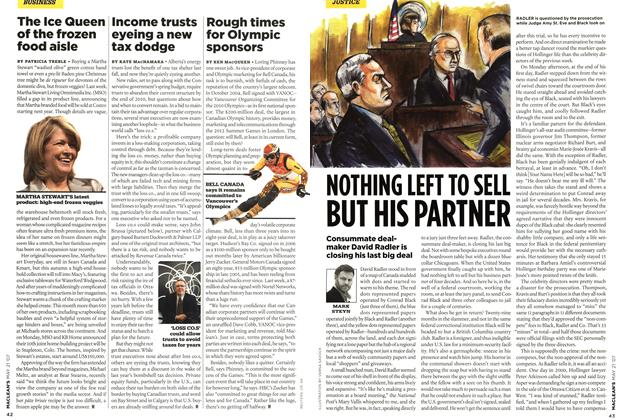 Article Preview: NOTHING LEFT TO SELL BUT HIS PARTNER, MAY 21st 2007 2007 | Maclean's