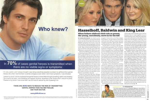 Article Preview: Hasselhoff, Baldwin and King Lear, MAY 21st 2007 2007 | Maclean's