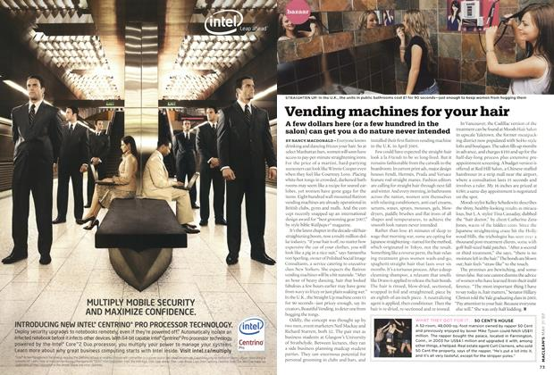 Article Preview: Vending machines for your hair, MAY 21st 2007 2007 | Maclean's