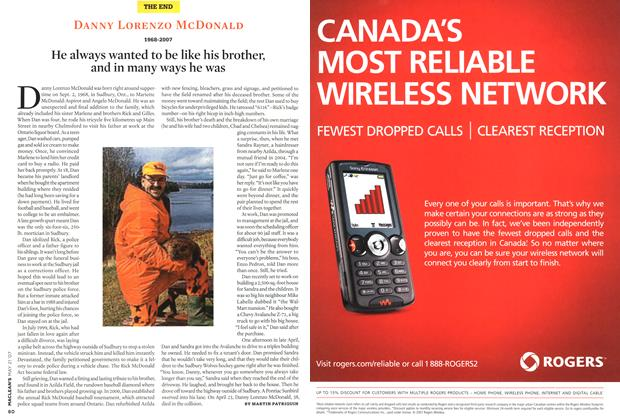 Article Preview: DANNY LORENZO MCDONALD 1968-2007, MAY 21st 2007 2007 | Maclean's