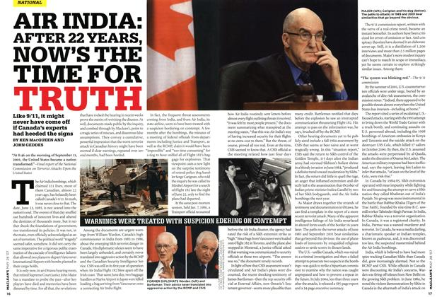 Article Preview: AIR INDIA: AFTER 22 YEARS, NOW'S THE TIME FOR TRUTH, MAY 28th 2007 2007 | Maclean's