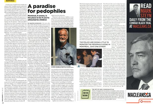 Article Preview: A paradise for pedophiles, MAY 28th 2007 2007 | Maclean's