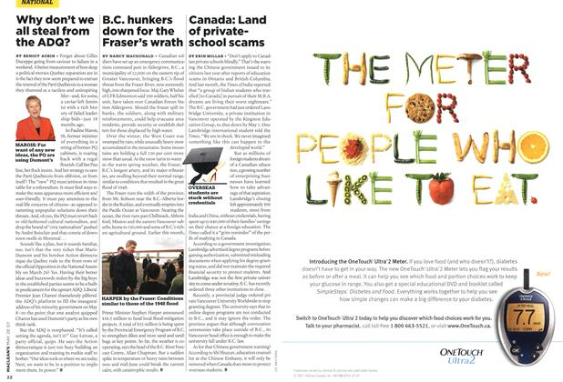 Article Preview: B.C. hunkers down for the Fraser's wrath, MAY 28th 2007 2007 | Maclean's