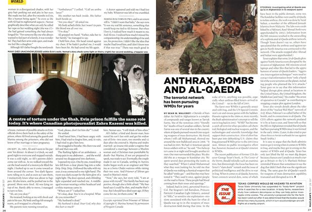 Article Preview: ANTHRAX, BOMBS AND AL-QAEDA, MAY 28th 2007 2007 | Maclean's