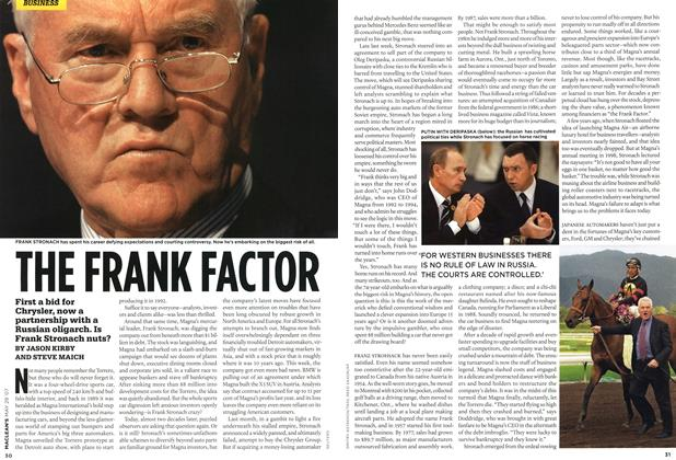 Article Preview: THE FRANK FACTOR, MAY 28th 2007 2007 | Maclean's