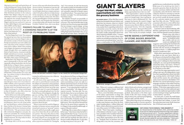 Article Preview: GIANT SLAYERS, MAY 28th 2007 2007 | Maclean's