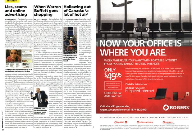 Article Preview: When Warren Buffett goes shopping, MAY 28th 2007 2007 | Maclean's