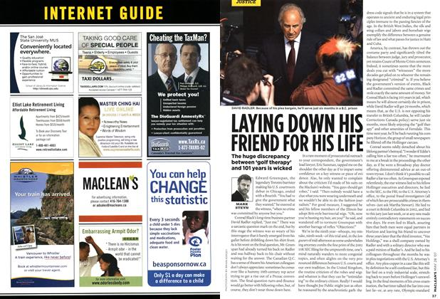 Article Preview: LAYING DOWN HIS FRIEND FOR HIS LIFE, MAY 28th 2007 2007 | Maclean's