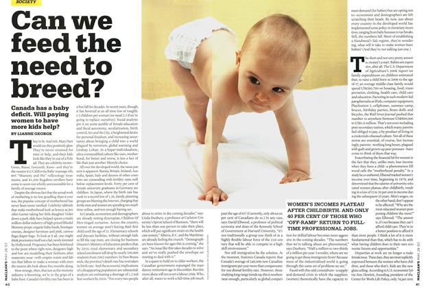 Article Preview: Can we feed the need to breed?, MAY 28th 2007 2007 | Maclean's