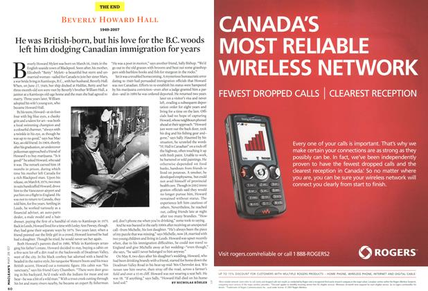 Article Preview: BEVERLY HOWARD HALL 1949-2007, MAY 28th 2007 2007   Maclean's