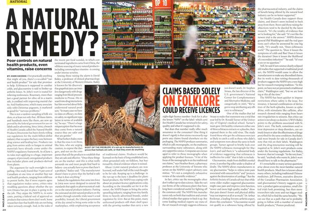Article Preview: A NATURAL REMEDY?, JUN. 4th 2007 2007 | Maclean's