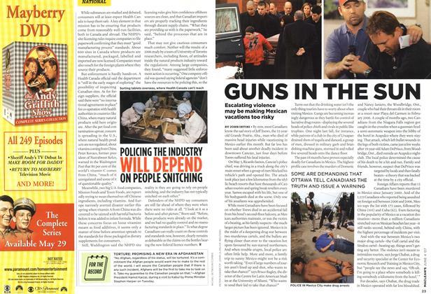 Article Preview: GUNS IN THE SUN, JUN. 4th 2007 2007 | Maclean's