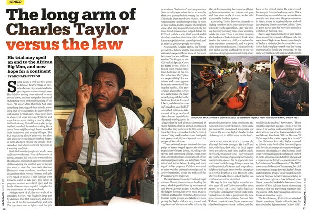 Article Preview: The long arm of Charles Taylor versus the law, JUN. 4th 2007 2007 | Maclean's