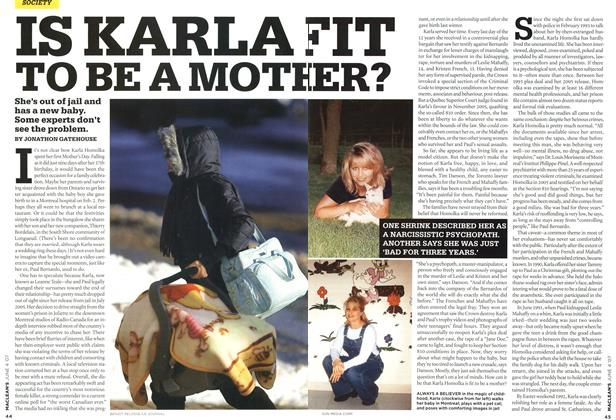 Article Preview: IS KARLA FIT TO BE A MOTHER?, JUN. 4th 2007 2007 | Maclean's