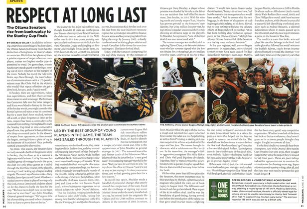 Article Preview: RESPECT AT LONG LAST, JUN. 4th 2007 2007 | Maclean's