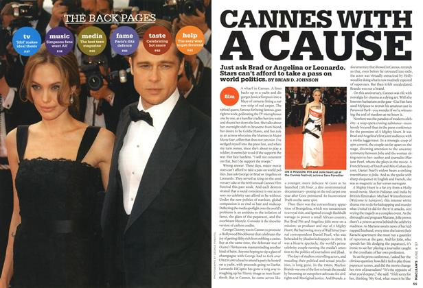Article Preview: CANNES WITH A CAUSE, JUN. 4th 2007 2007 | Maclean's