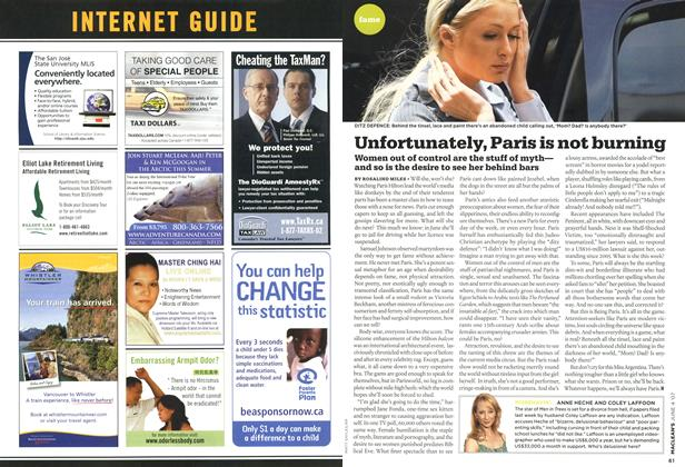 Article Preview: Unfortunately, Paris is not burning, JUN. 4th 2007 2007 | Maclean's