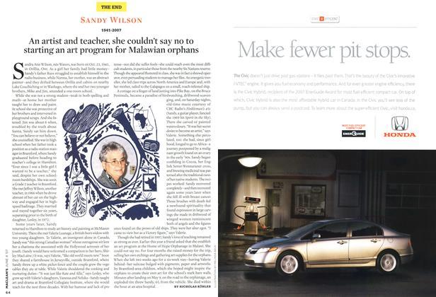 Article Preview: SANDY WILSON 1941-2007, JUN. 4th 2007 2007 | Maclean's