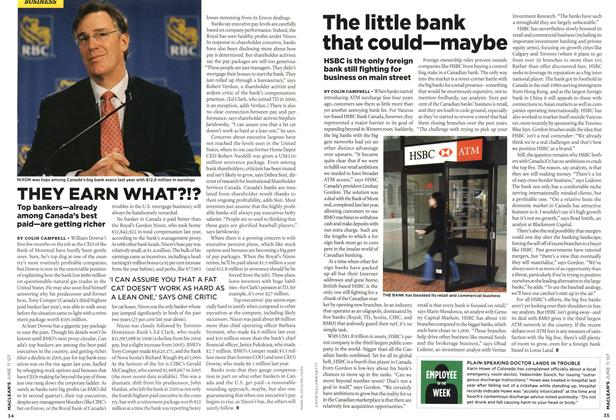Article Preview: The little bank that could—maybe, JUN. 11th 2007 2007 | Maclean's