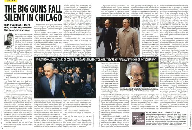 Article Preview: THE BIG GUNS FALL SILENT IN CHICAGO, JUN. 11th 2007 2007 | Maclean's