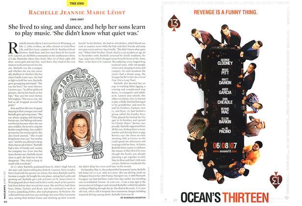 Article Preview: RACHELLE JEANNIE MARIE LÉOST 1969-2007, JUN. 11th 2007 2007 | Maclean's