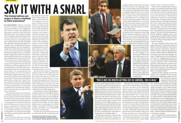 Article Preview: SAY IT WITH A SNARL, JUN. 18th 2007 2007 | Maclean's