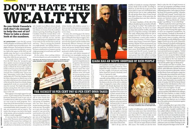 Article Preview: DON'T HATE THE WEALTHY, JUN. 18th 2007 2007 | Maclean's