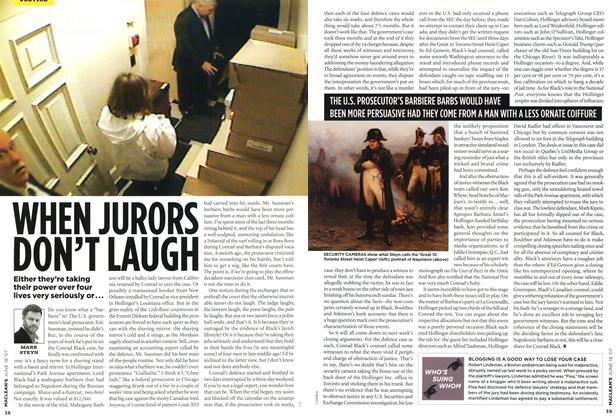 Article Preview: WHEN JURORS DON'T LAUGH, JUN. 18th 2007 2007 | Maclean's
