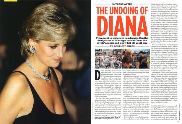 Article Preview: 10 YEARS AFTER THE UNDOING OF DIANA, JUN. 18th 2007 2007 | Maclean's