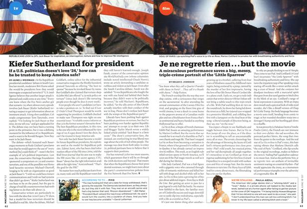 Article Preview: Kiefer Sutherland for president, JUN. 18th 2007 2007 | Maclean's