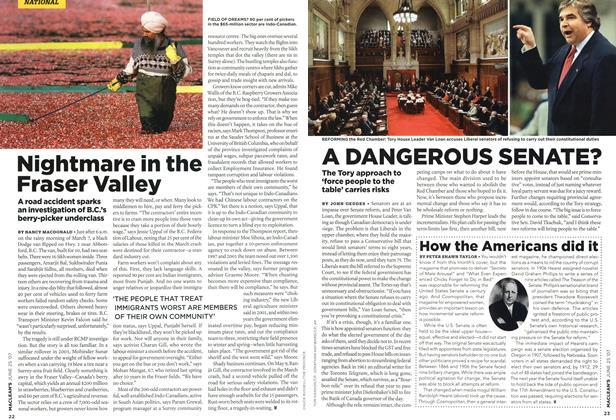 Article Preview: A DANGEROUS SENATE?, JUN. 25th 2007 2007 | Maclean's