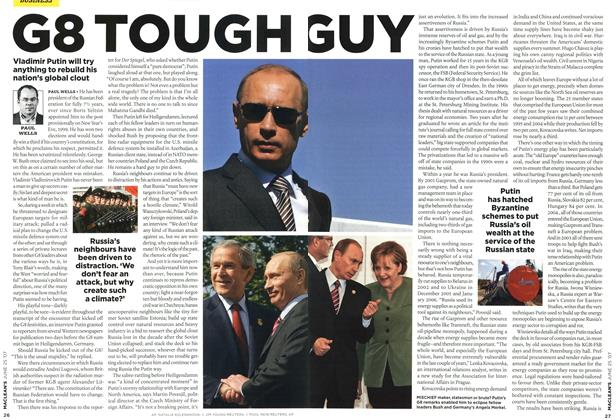 Article Preview: G8 TOUGH GUY, JUN. 25th 2007 2007 | Maclean's