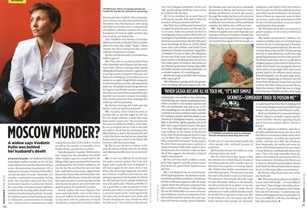 Article Preview: MOSCOW MURDER?, JUN. 25th 2007 2007 | Maclean's