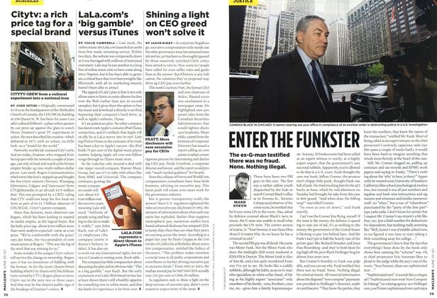 Article Preview: ENTER THE FUNKSTER, JUN. 25th 2007 2007 | Maclean's
