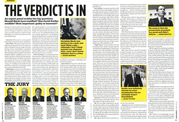 Article Preview: THE VERDICT IS IN, JUN. 25th 2007 2007 | Maclean's