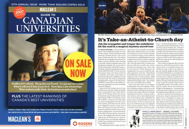 Article Preview: It's Take-an-Atheist-to-Church day, JUN. 25th 2007 2007 | Maclean's